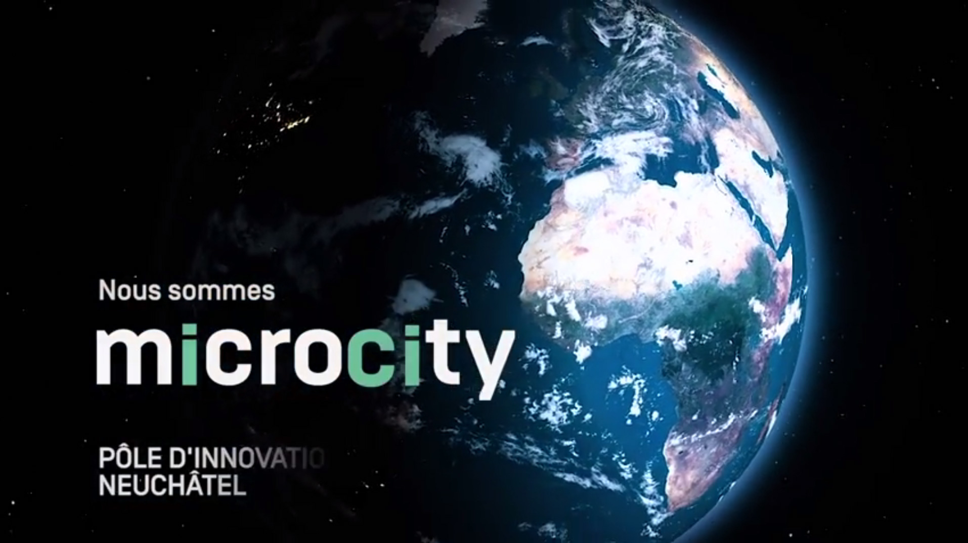 Le logo de Microcity, pole d'innovation neuchâtelois